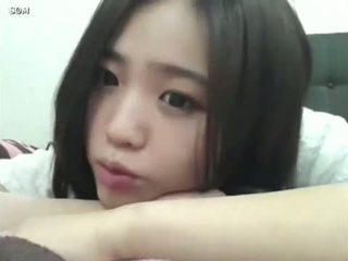 comel, gadis, korea