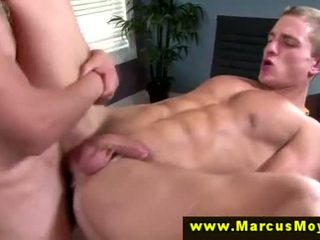 Horny straight muscled drills dudes butt
