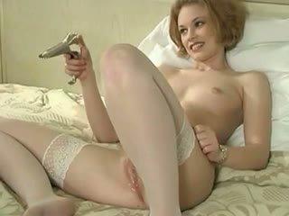Swan (aka Justine J) speculum and foot sucking