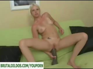 gapende, enorme dildo, anale speelgoed