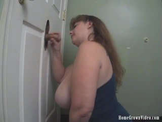 Large Boobs Cheryl Works Multiple Ramrods At A Glory Hole