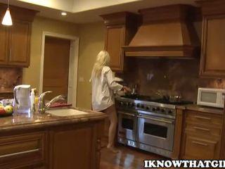 cô gái tóc vàng, babes, nhà bếp