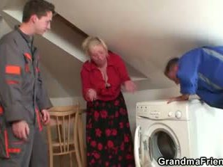 old, 3some, grandma