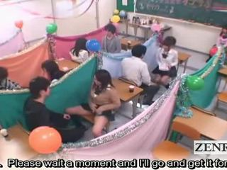 Subtitled जापान schoolgirls क्लासरूम masturbation cafe