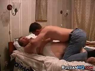 Venäläinen pari tehdä a seksi tape