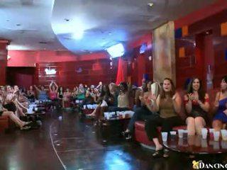 Brunette With Huge Natural Breasts Gives Blowjob At Drunken Party