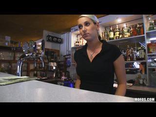 Hot and sexy body of bartender Lenka