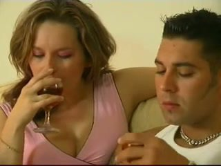 British Brunette does Anal on the couc...