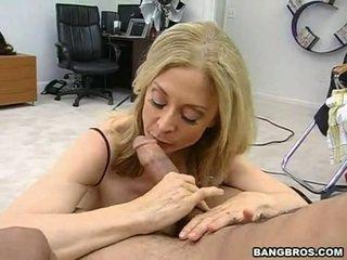 Sensuous momma nina hartley sits onto тя heated muff pie onto а sausage като а dissolute каубойка