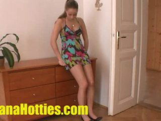 Czech fashion model at her first porn ...