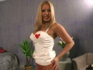 Lovely nurse in hot pantyhose