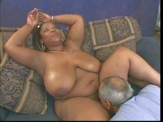 black and ebony, interracial, big natural tits