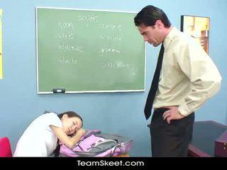 Innocenthigh учител шибане мършав азиатки тийнейджъри стегнат путка