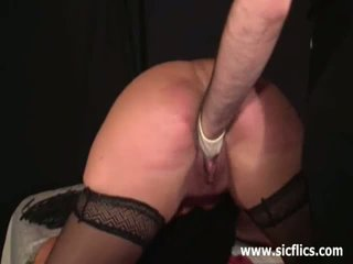 Extreme fist fucked submissive slave girl