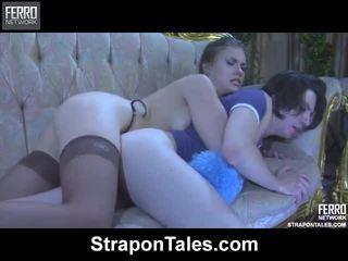 Vaatama strapon tales filmid koos suur pornotäht martha, randolph, owen