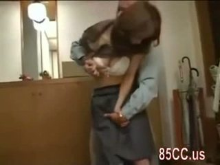 Mosaic: nice boobs bojo fucked by delivery man