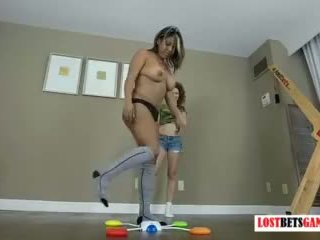 Two Gorgeous Teens Play A Strip Memory Game