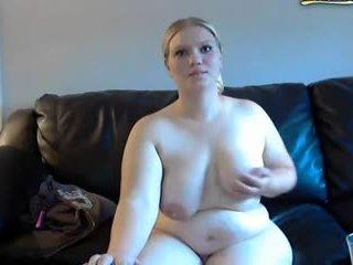 cô gái tóc vàng, bbw, webcam
