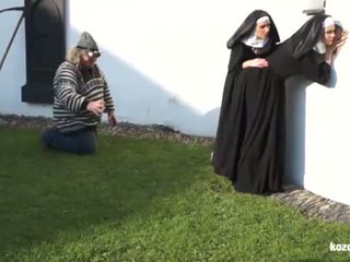 Catholic nuns i the potwór! szalone potwór i vaginas!