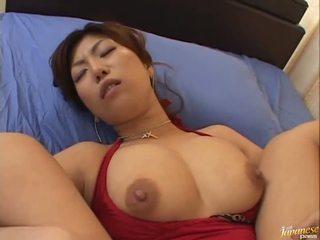 Grande boobed asiática naho hazuki gets dela conas licking
