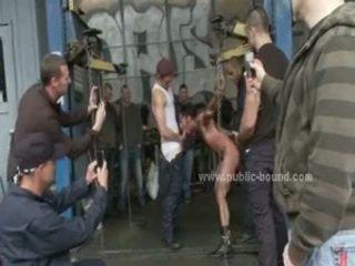 Homosexual Hunk In Brutal Gang Gangbang Sex Movie Scene