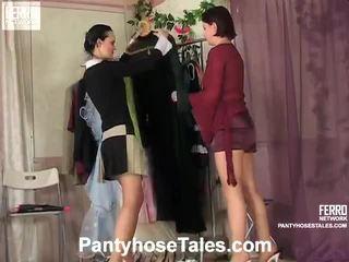 पॅंटीहोस tales दृश्यों साथ kathleen, rosa, govard