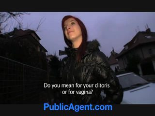 Ceko redhead goes home with the publik agent