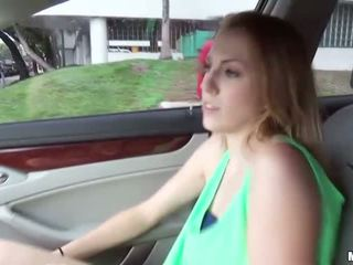 Sexy Jenna gets banged in the backseat