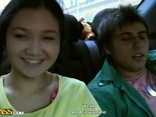 18 ano velho gaja gets banged em o carro vídeo