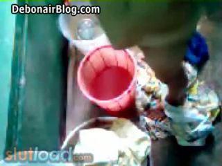 Bengali mam bath captured door zoon (real)