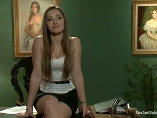 Superb dani daniels has constrained up in banged onto a miza