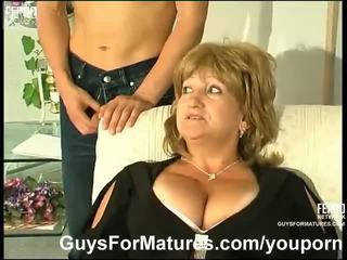 बड़े स्तन, जर्मन, माताओं और लड़कों