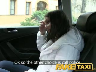 Faketaxi süß russisch tourist mit ein schön eng muschi