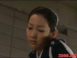 Japonská av modelu v ji punčochy