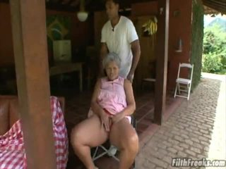 outdoor sex, masturbating, old