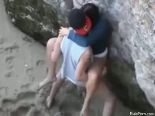 Nakal pasangan seks / persetubuhan pada awam pantai
