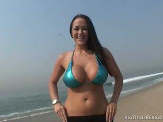 brunett, big dick, stora bröst