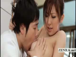 Velika titty japonsko sultress harumi asano has melone suckled