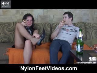 Sibylla in vitas breathtaking najlonke noge ukrepanje