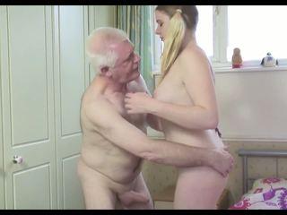 Príťažlivé starý človek n mladý suka