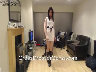 brunette, crossdresser, solo