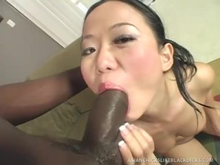 Asian Babe Acquires Ripped Up By Black Dick
