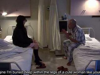 Subtitled uncensored ajaib rumah sakit jepang memainkan kontol dengan tangan