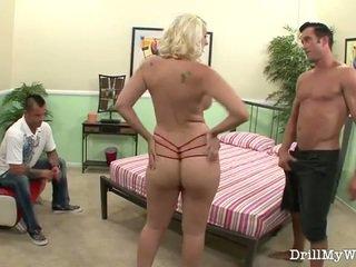 zrelý, manželka, blondínka