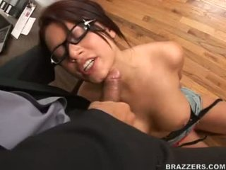 Eva angelina on pigtails takes a hard jock jero in this chapr mouth