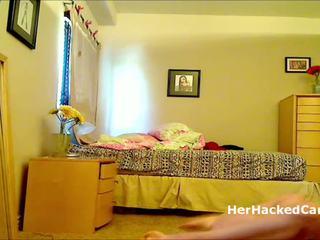 Горещ блондинки мадама taped чукане в спалня