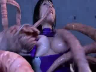 Monster tentacles jizzing big Titty asian porn attacker all the body