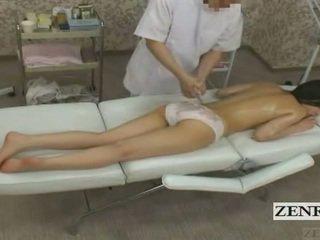 Subtitled cmnf enf japānieši pusaudze skolniece pakaļa masāža