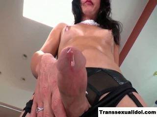 tranny, masturbation, small tits