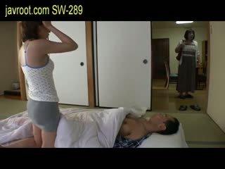 japanilainen, tyttö, pienet rinnat